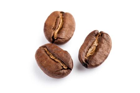 coffe bean: Grano de caf� con fondo blanco