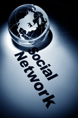 globe, concept of Social Network
