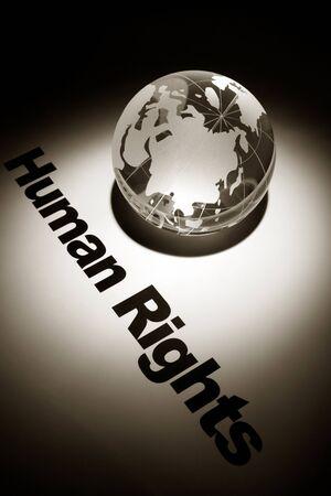 derechos humanos: globo, concepto de los derechos humanos
