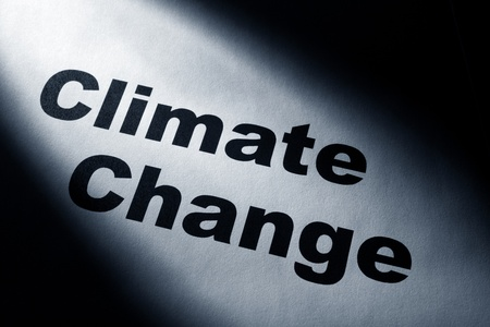 light and word of Climate Change for background   Stock fotó