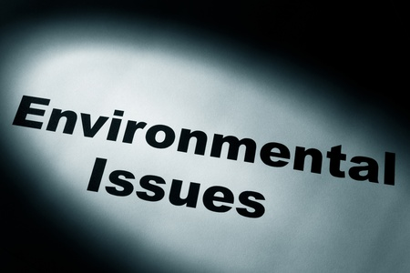 environmental issues: light and word of Environmental Issues for background