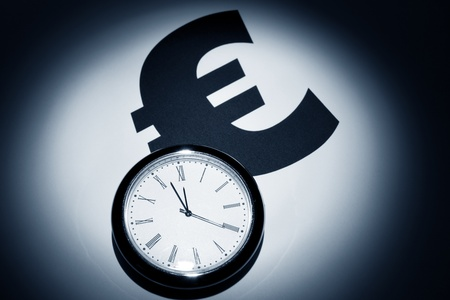 Clock and Euro Symbol for background