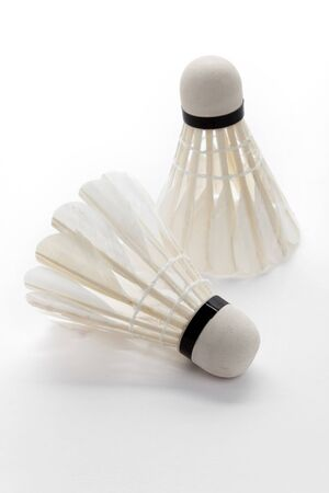 Shuttlecock with white background