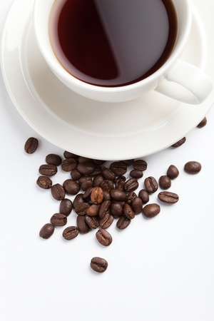 Coffee Bean and cup for background photo
