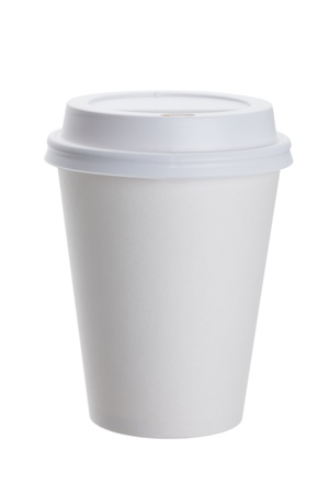cup: White Paper Cup close up