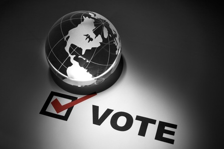 Globe and Voting, concept of Global Communications Stock Photo - 10134817