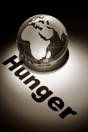 globe, concept of Global Hunger issues 版權商用圖片