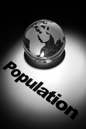 population growth: globe, concept of Global population growth