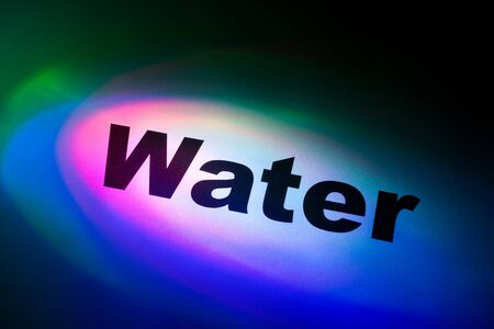 Color light and word of Water for background Stock Photo - 10134935