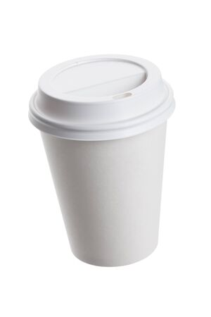 White Paper Cup close up Stock Photo - 10134807
