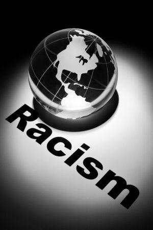 globe, concept of Racism