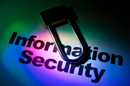 Color light and word of Information Security for background