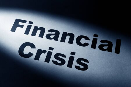 light and word of Financial Crisis for background