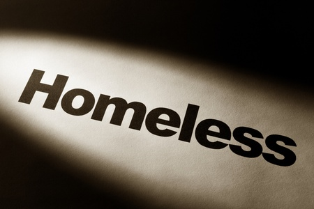 light and word of Homeless for background