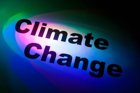 Color light and word of Climate Change for background   Stock Photo