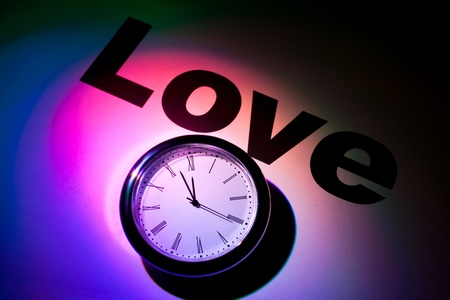Clock and word of Love for background