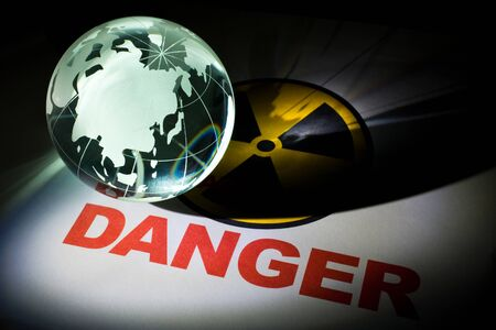 Radiation hazard sign for background Stock Photo - 10171839