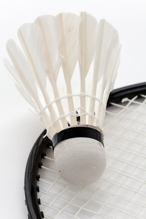 Badminton and Racket close up