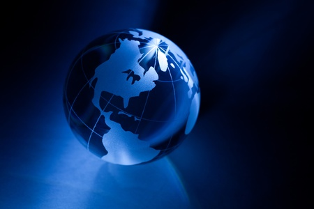 americas: Earth planet,Transparent globe for background