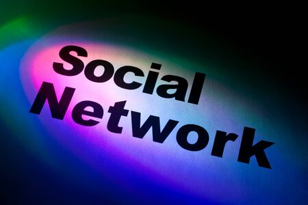 Color light and word of Social Network for background Stock Photo - 10251833