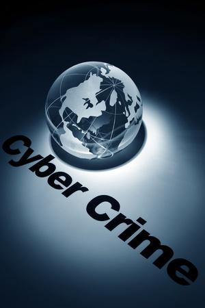 globe, concept of Cyber Crime Stock Photo - 10251829