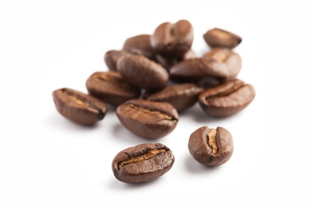 Coffee Bean with white background Stock Photo