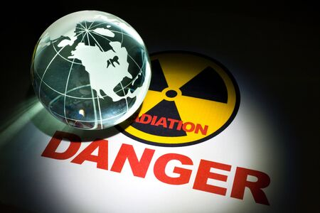 Radiation hazard sign for background Stock Photo - 10825101