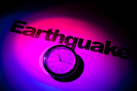 Clock and word of Earthquake