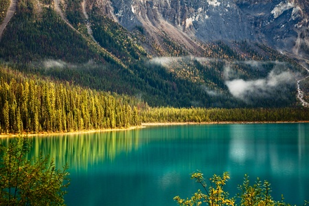 banff national park: Emerald lake. Yoho National park. Alberta. Canada, Oct. 2011 Stock Photo