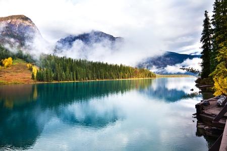 Emerald lake. Yoho National park. Alberta. Canada, Oct. 2011 Stock Photo - 10943175