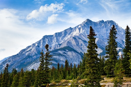 Cascade Mountain. Banff National park. Alberta. Canada, Oct. 2011 Stock Photo - 10943180