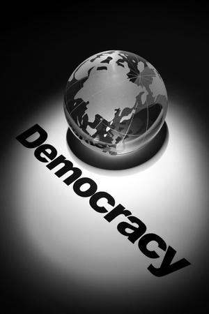 Demokratie: Globus Konzept der Demokratie