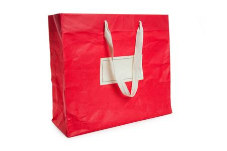 Red Shopping Bag with white background photo