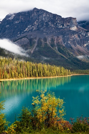 Emerald lake. Yoho National park. Alberta. Canada, Oct. 2011 Stock Photo - 11254627