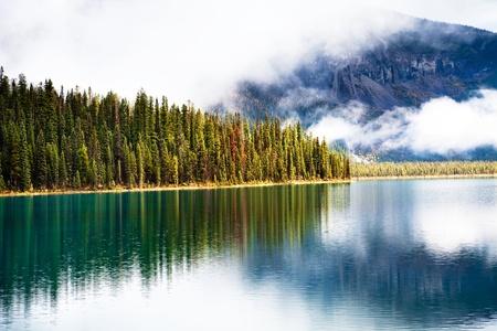Emerald lake. Yoho National park. Alberta. Canada, Oct. 2011 photo
