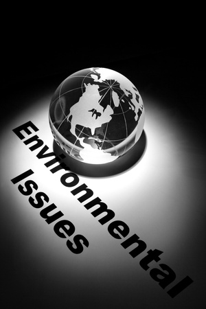 environmental issues: globe, concept of Global Environmental Issues   Stock Photo