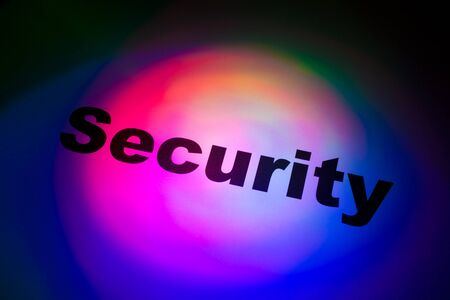 Color light and word of Security for background Stock Photo - 11286300