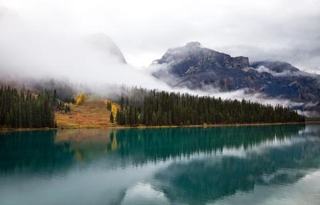 Emerald lake. Yoho National park. Alberta. Canada, Oct. 2011 Stock Photo - 11286261