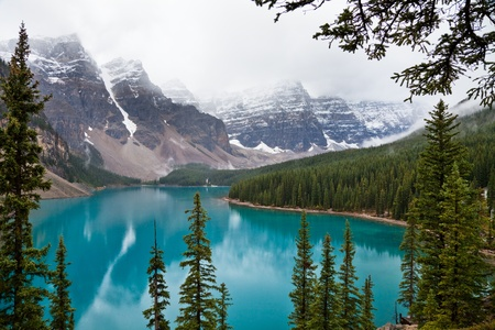 Moraine Lake. Banff National park. Alberta. Canada, Oct. 2011 photo