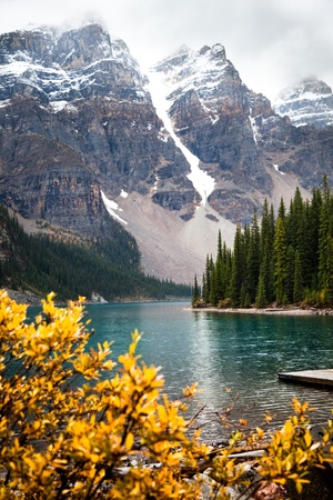 Moraine Lake. Banff National park. Alberta. Canada, Oct. 2011 photo