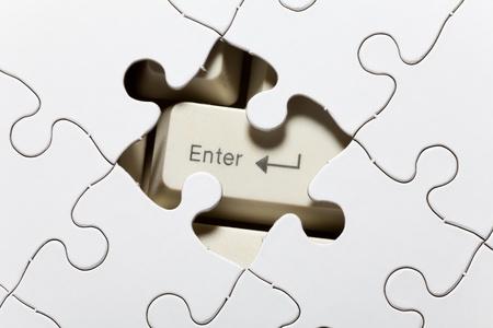 tecla enter: Teclado de ordenador y Puzzle, el concepto de la solución