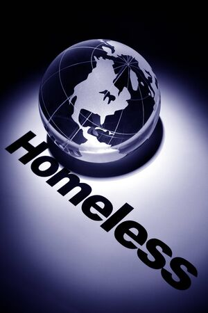 globe, concept of Global Homeless issues    Stock Photo