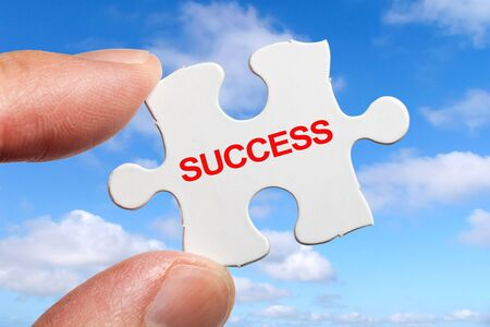 Puzzle and word Success, business concept