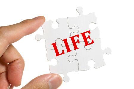 Puzzle, concept of Life Balance photo