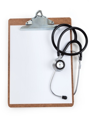 stethoscope: Stethoscope and Clipboard, concept of Healthcare And Medicine