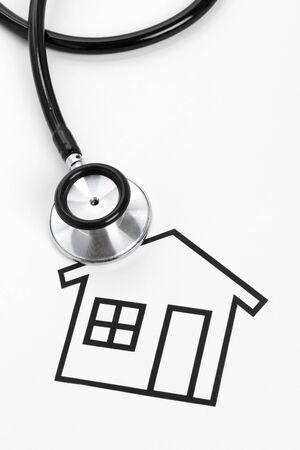 聴診器、家、不動産問題の概念 写真素材 - 12387448