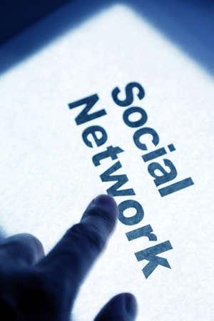 Red Social, concepto de la comunicación en red Foto de archivo - 12387481