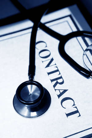 Stethoscope and Contract, concept of business