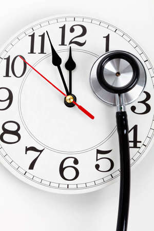 Stethoscope and Clock, concept of Time Problems
