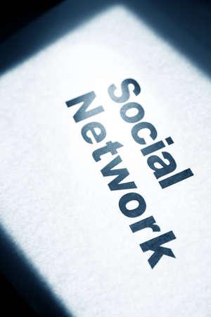 Red Social, concepto de la comunicación en red Foto de archivo - 12752857